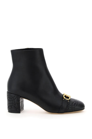 Salvatore Ferragamo Quilted Gancini Booties