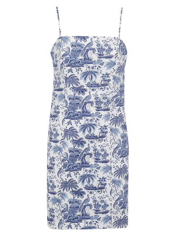 Staud Toile Printed Fitted Mini Dress
