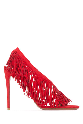Aquazurra Fringed Suede Sandals