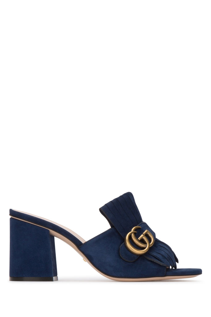 Gucci GG Marmont Fringed Mules
