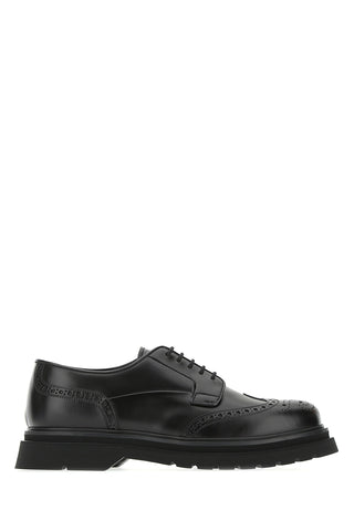 Prada Logo Embossed Derby Brogues