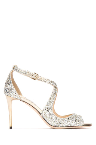 Jimmy Choo Emily 85 Glitter Sandals