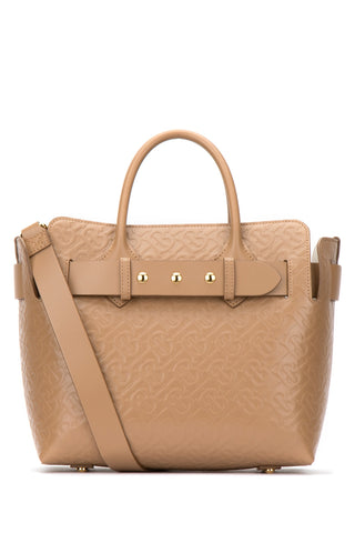 Burberry Small Monogram Triple Stud Belted Tote Bag
