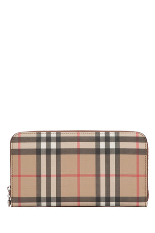 Burberry Vintage Check Zip-Around Wallet