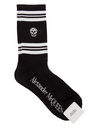 Alexander McQueen Skull Embroidered Socks