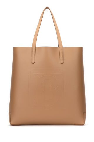 Burberry Logo Embossed Tote Bag