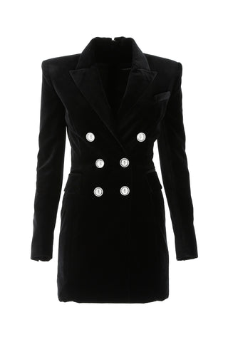 Balmain Velvet Blazer Dress