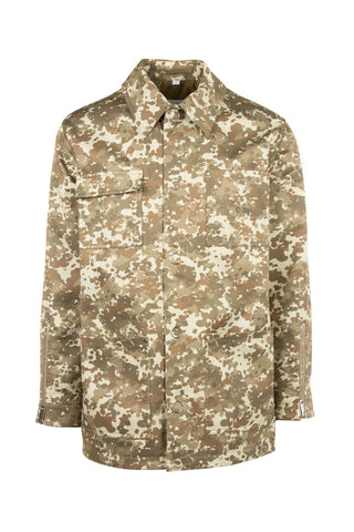 Burberry Camouflage Print Button-Up Jacket
