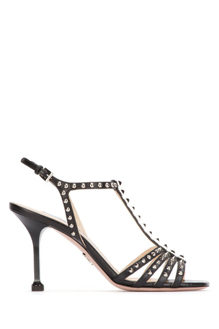 Prada Studded T-Bar Strap Sandals