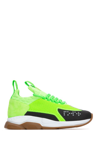 Versace Chain Reaction Panelled Low Top Sneakers
