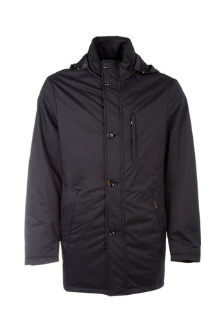 Moorer Hooded Button-Up Jacket