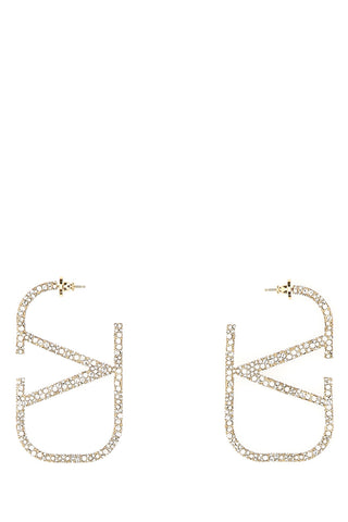 Valentino VLogo Embellished Earrings