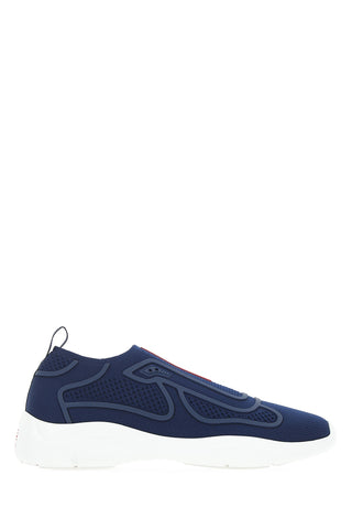 Prada America's Cup Patterned Logo Slip On Sneakers