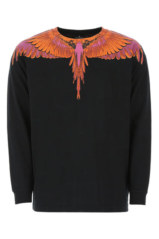 Marcelo Burlon County Of Milan Long Sleeved Wing Print Sweater