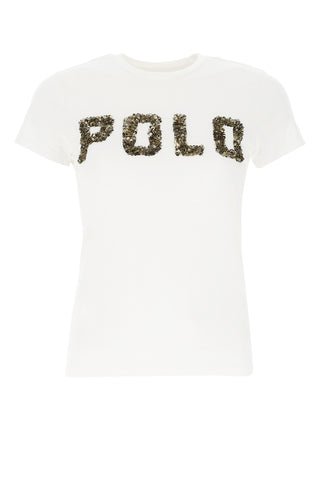 Polo Ralph Lauren Logo Embellished T-Shirt