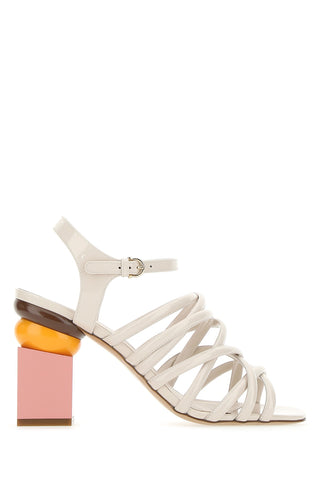Salvatore Ferragamo Sculptured Heel Sandals