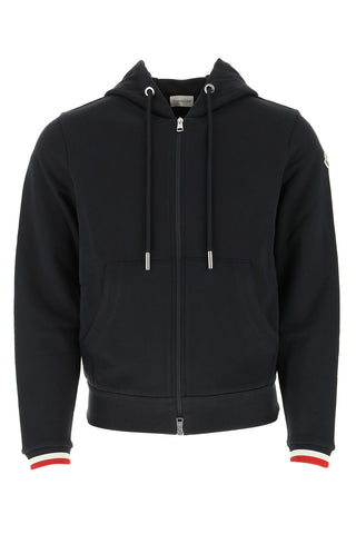 Moncler Zipped Logo Patch Hoodie