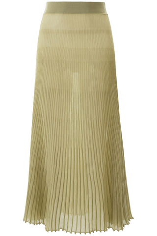 Jacquemus Pleated Sheer Skirt