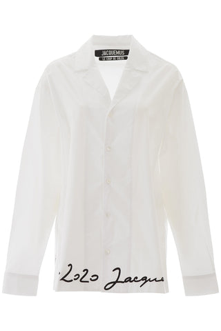 Jacquemus Long Sleeve Embroidered Shirt