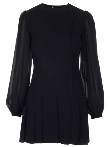 Saint Laurent Pleated Dress