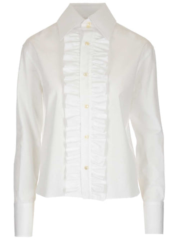 Saint Laurent Ruffled Detail Shirt