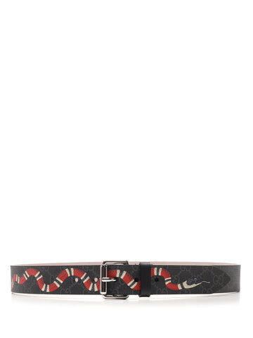 Gucci GG Supreme Kingsnake Print Belt