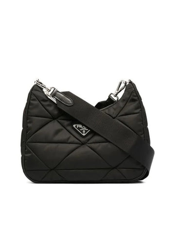Prada Triangle Logo Padded Shoulder Bag