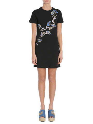 Carven Floral Embroidered T-Shirt Dress