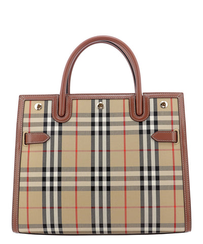 Burberry Small Vintage Check Two-Handle Title Bag