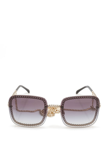 Chanel Square Frame Chain Sunglasses