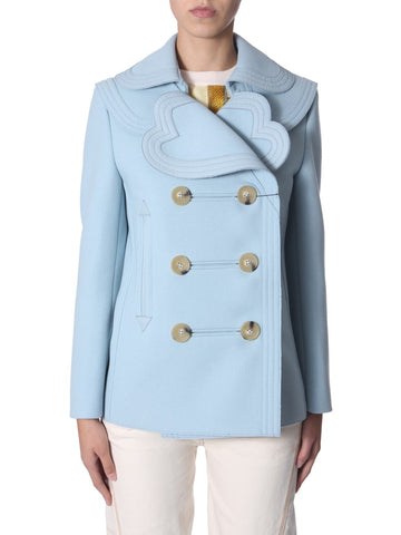 Lanvin Heart Collar Coat