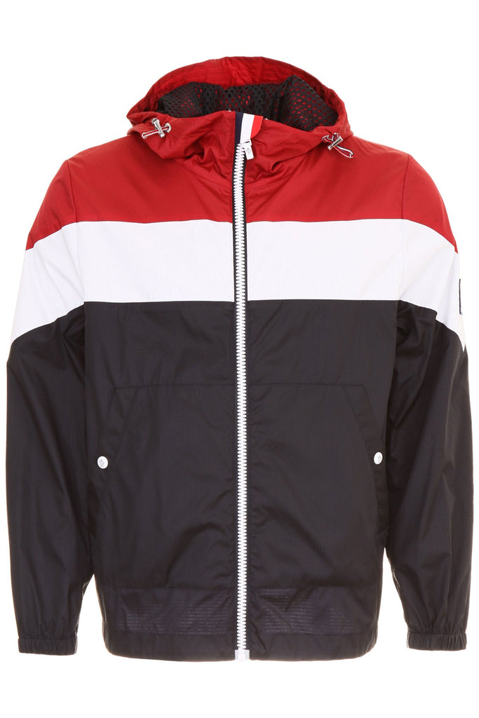 Moncler Gamme Bleu Contrasting Panelled Hooded Windbreaker