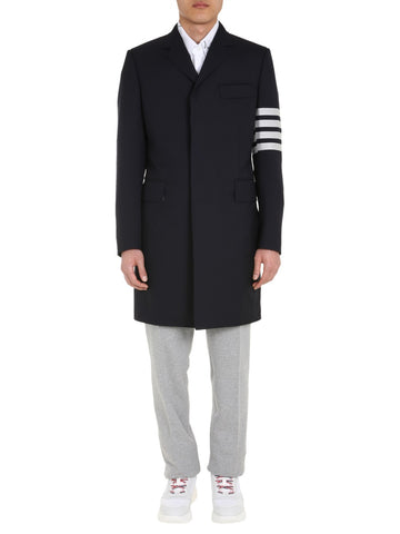 Thom Browne 4-Bar Chesterfield Coat