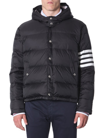 Thom Browne 4-Bar Hooded Down Jacket