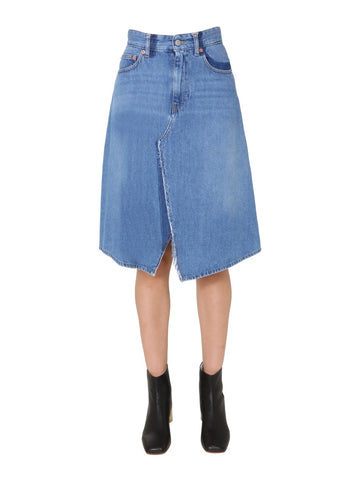 MM6 Maison Margiela Denim Midi Skirt