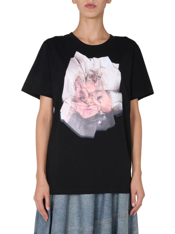 MM6 Maison Margiela Printed Crew Neck T-Shirt