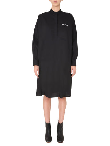 MM6 Maison Margiela Logo Detail Shirt Dress