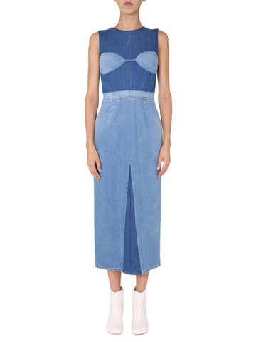 MM6 Maison Margiela Fitted Denim Dress