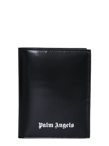 Palm Angels Logo Print Passport Case