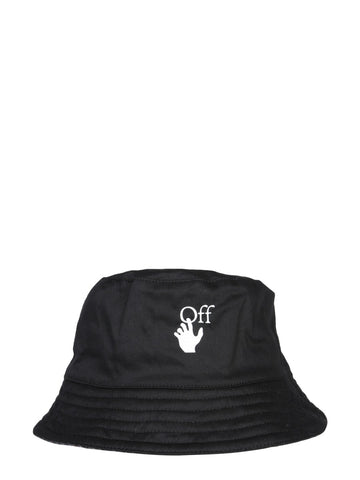 Off-White Logo Print Reversible Bucket Hat