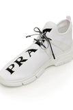 Prada Logo Knit Sneakers