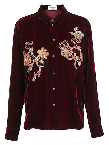 Saint Laurent Embroidered Shirt