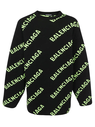 Balenciaga All Over Logo Sweater