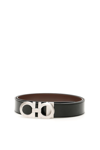 Salvatore Ferragamo Reversible Double Gancini Buckle Belt