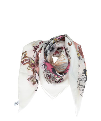 Salvatore Ferragamo Collage Print Scarf
