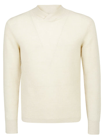 Salvatore Ferragamo Retro Collar Knit Sweater