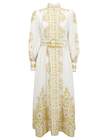Zimmermann Belted Long Dress