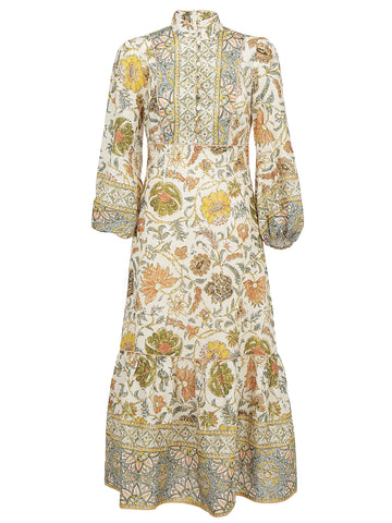 Zimmermann Paisley Print High Neck Long Dress