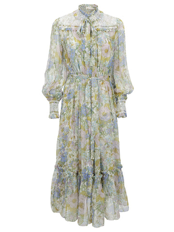 Zimmermann Floral Patterned Belted Dress