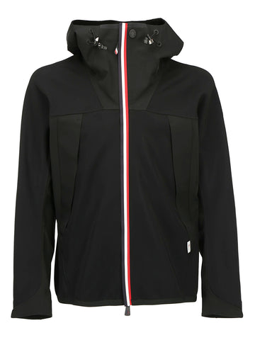 Moncler Grenoble Stripe Trim Hooded Jacket